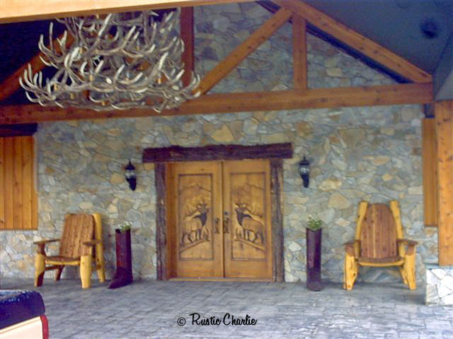 log lodge furniture, throne, cabine furniture