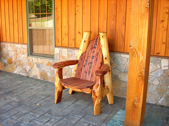 Handmade Rustic Throne Chairs Furniture Lodge Cabin Furniture Log